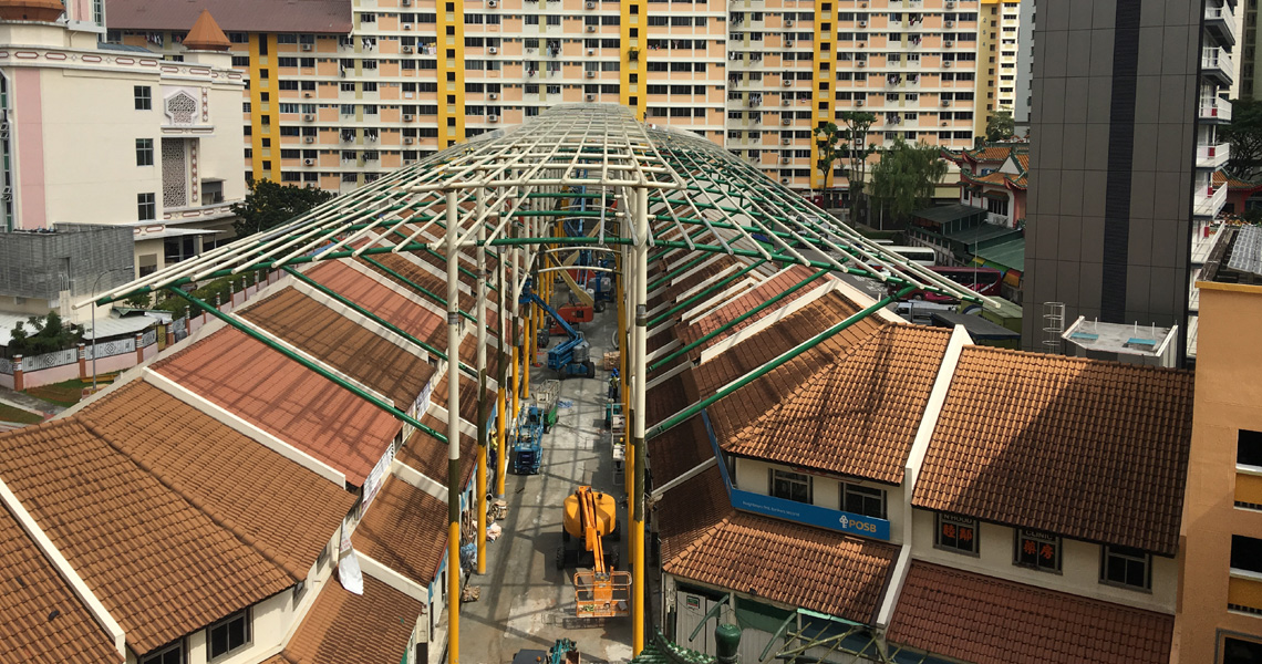 Steel structure at Bukit Panjang